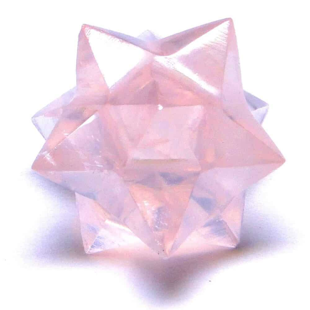 Rose Quartz 12 Point Merkaba Star Nature's Crest MS12002 ₹ 449.00