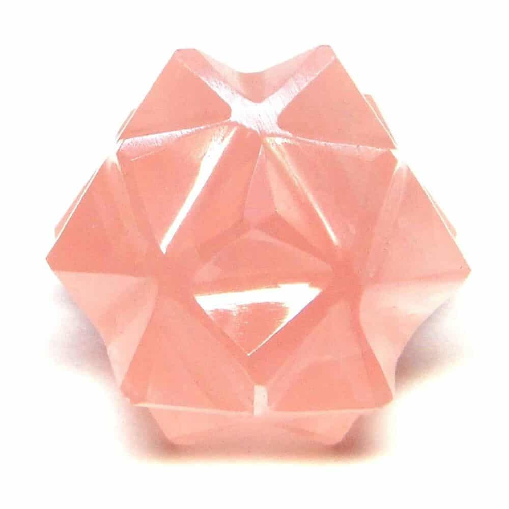 Rose Quartz 20 Point Merkaba Star Nature's Crest MS20003 ₹ 449.00