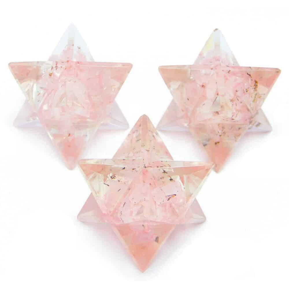 Rose Quartz Orgone 8 Point Merkaba Star Nature's Crest OMS012 ₹249.00