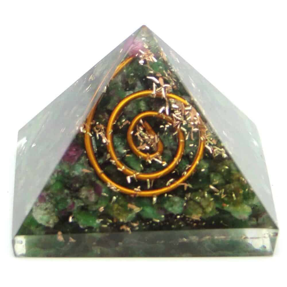 Ruby Fuchsite (Manek / Manik) Orgone Pyramid Nature's Crest OPY013 ₹ 299.00