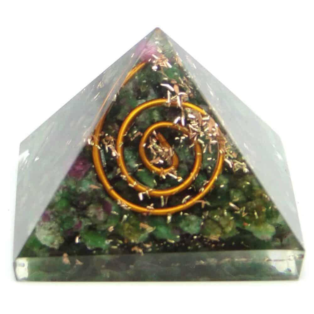 Ruby Fuchsite (Manek / Manik) Orgone Pyramid Nature's Crest OPY013 ₹299.00