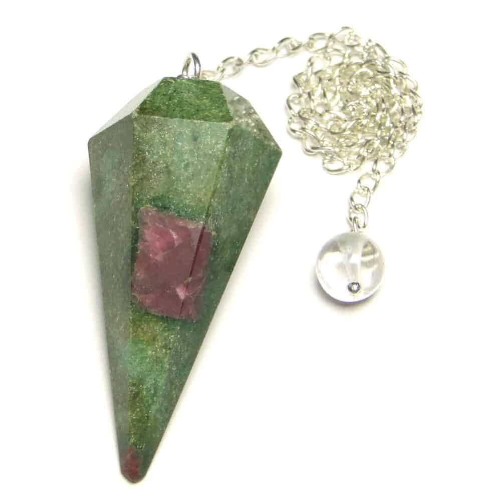 Ruby Fuchsite (Manek / Manik) Faceted Dowsing Pendulum Nature's Crest PD024 ₹ 399.00
