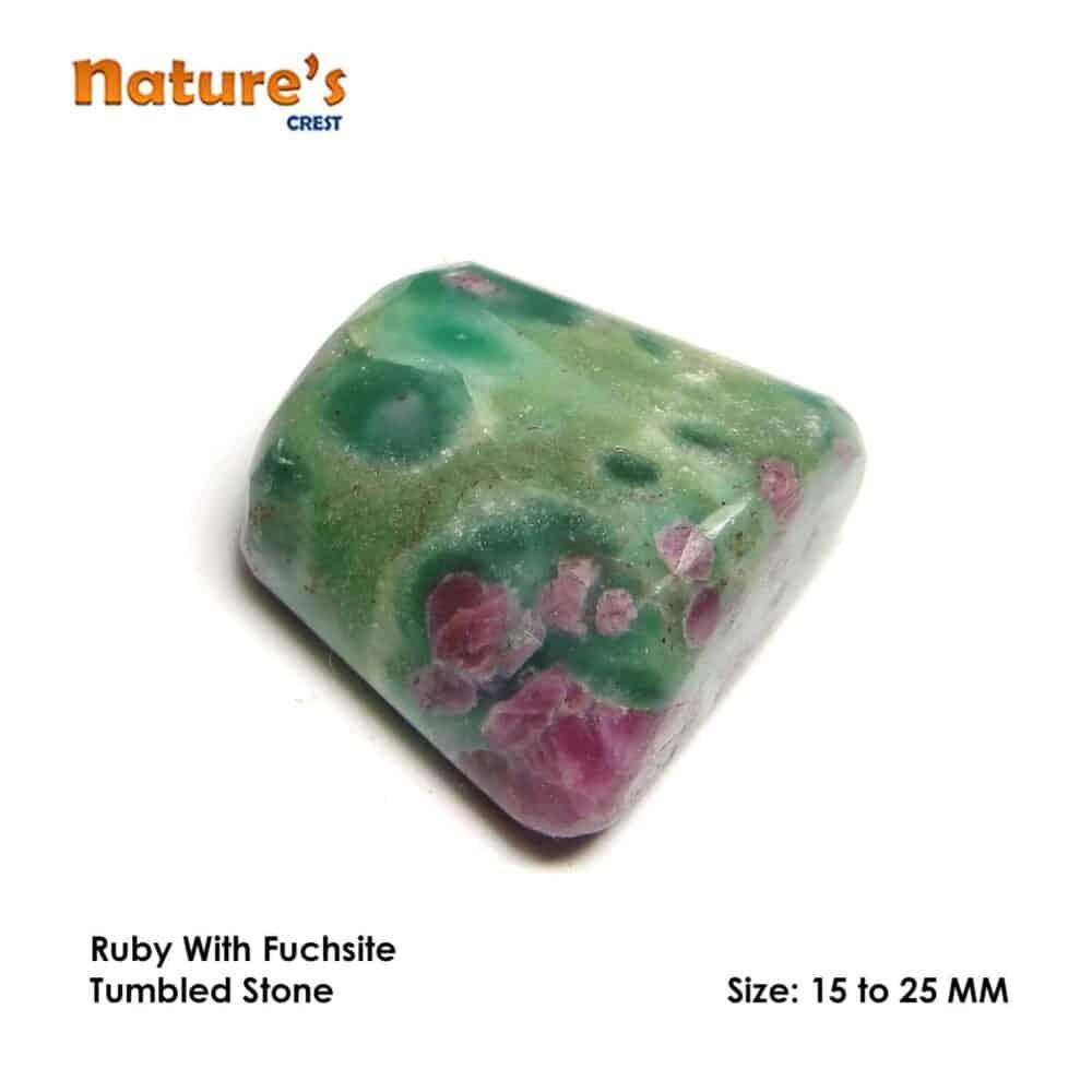 Ruby Fuchsite (Manek / Manik) Tumbled Pebble Stones Nature's Crest TS017 ₹299.00