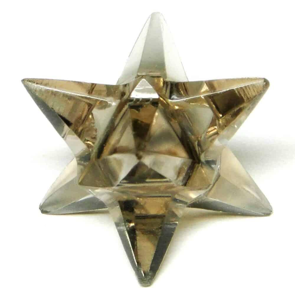Smoky Quartz 14 Point Merkaba Star Nature's Crest MS14002 ₹449.00