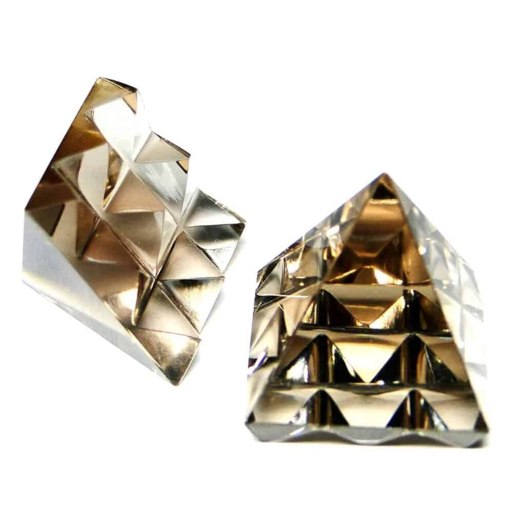 Smoky Quartz Clear Lemurian 9 Pyramid Master Pyramid Nature's Crest PYMP001 ₹ 749.00