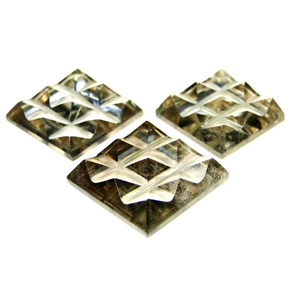 Smoky Quartz 9 Pyramid Charging Plate Nature's Crest PY9002 ₹ 449.00