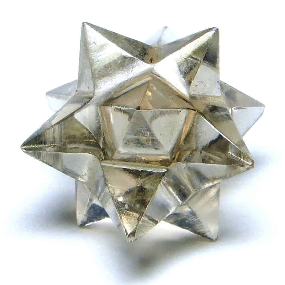 Smoky Quartz 12 Point Merkaba Star Nature's Crest MS12004 ₹449.00