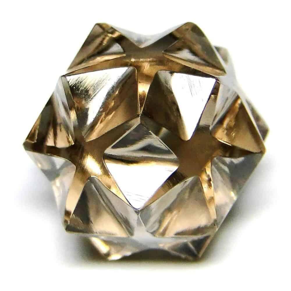 Smoky Quartz 20 Point Merkaba Star Nature's Crest MS20004 ₹449.00