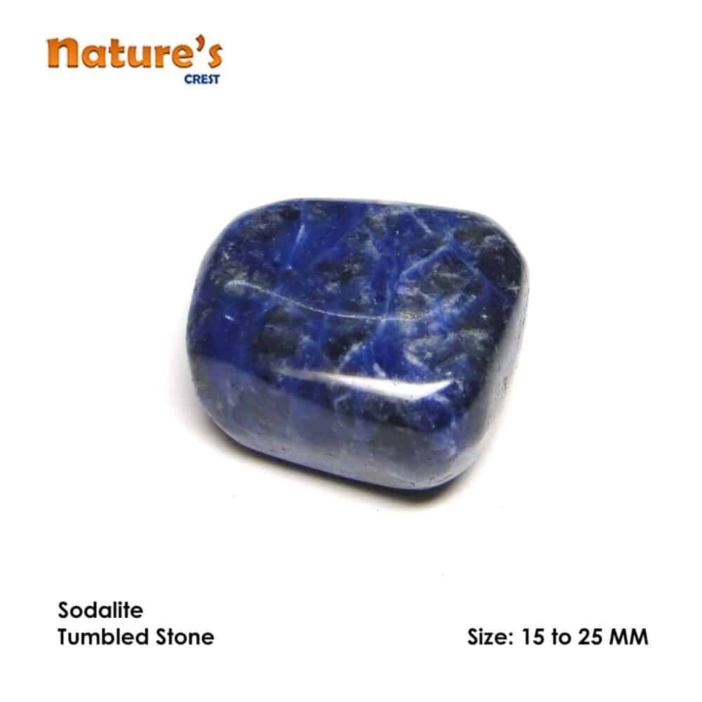 Sodalite Tumbled Pebble Stones Nature's Crest TS019 ₹249.00