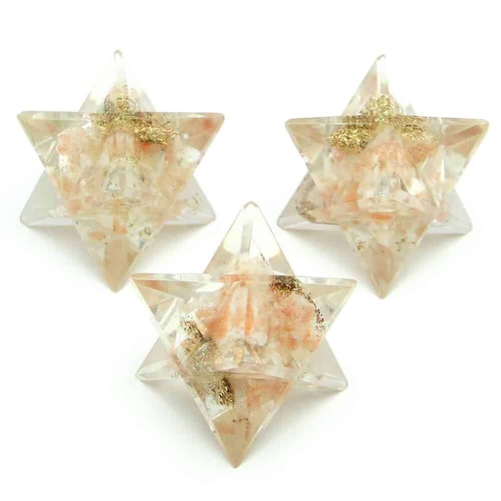 Sunstone Orgone 8 Point Merkaba Star Nature's Crest OMS014 ₹ 249.00