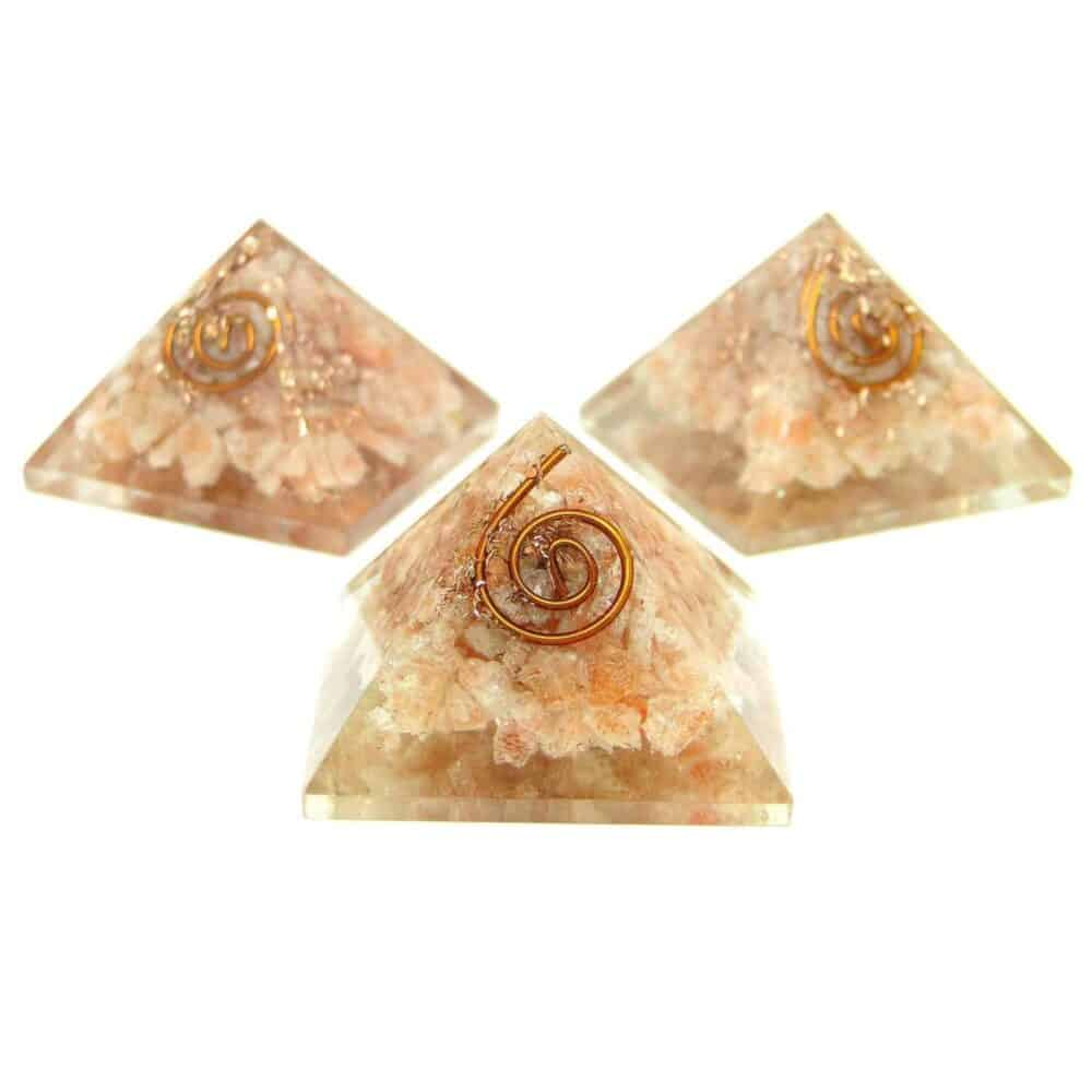 Sunstone Orgone Pyramid Nature's Crest OPY014 ₹ 299.00