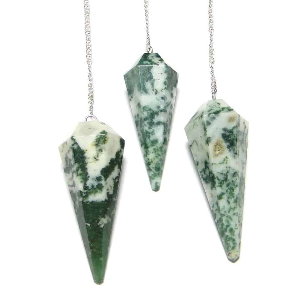 Tree Agate Faceted Dowsing Pendulum Nature's Crest PD027 ₹249.00
