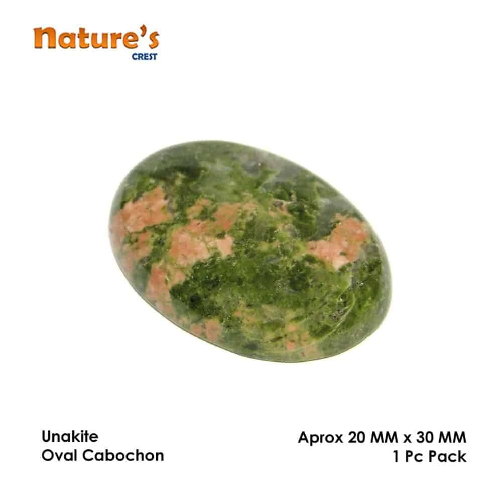 Unakite Jasper Oval Cabochon Nature's Crest CO0041 ₹349.00