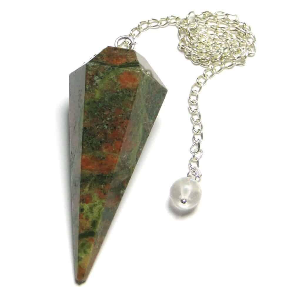 Unakite Jasper Faceted Dowsing Pendulum Nature's Crest PD028 ₹299.00