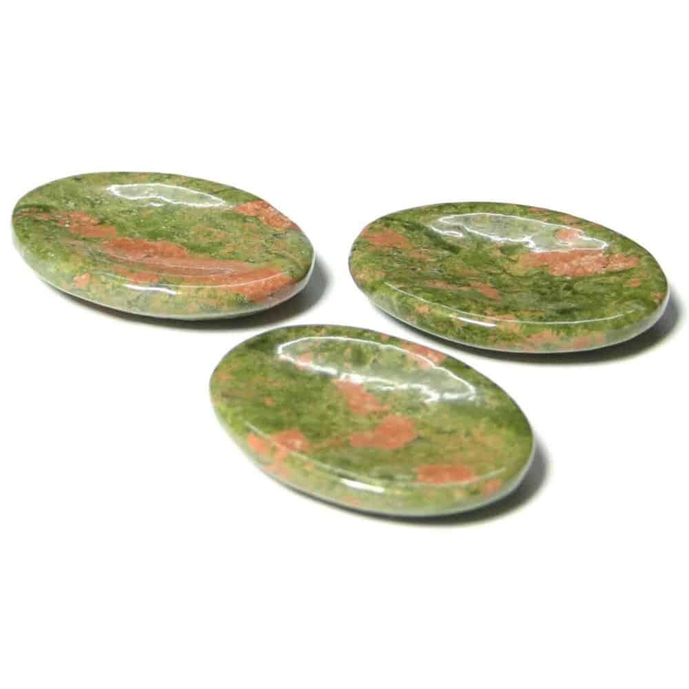 Unakite Jasper Worry Stone Palm Stone Thumb Stone Nature's Crest WS0018 ₹269.00