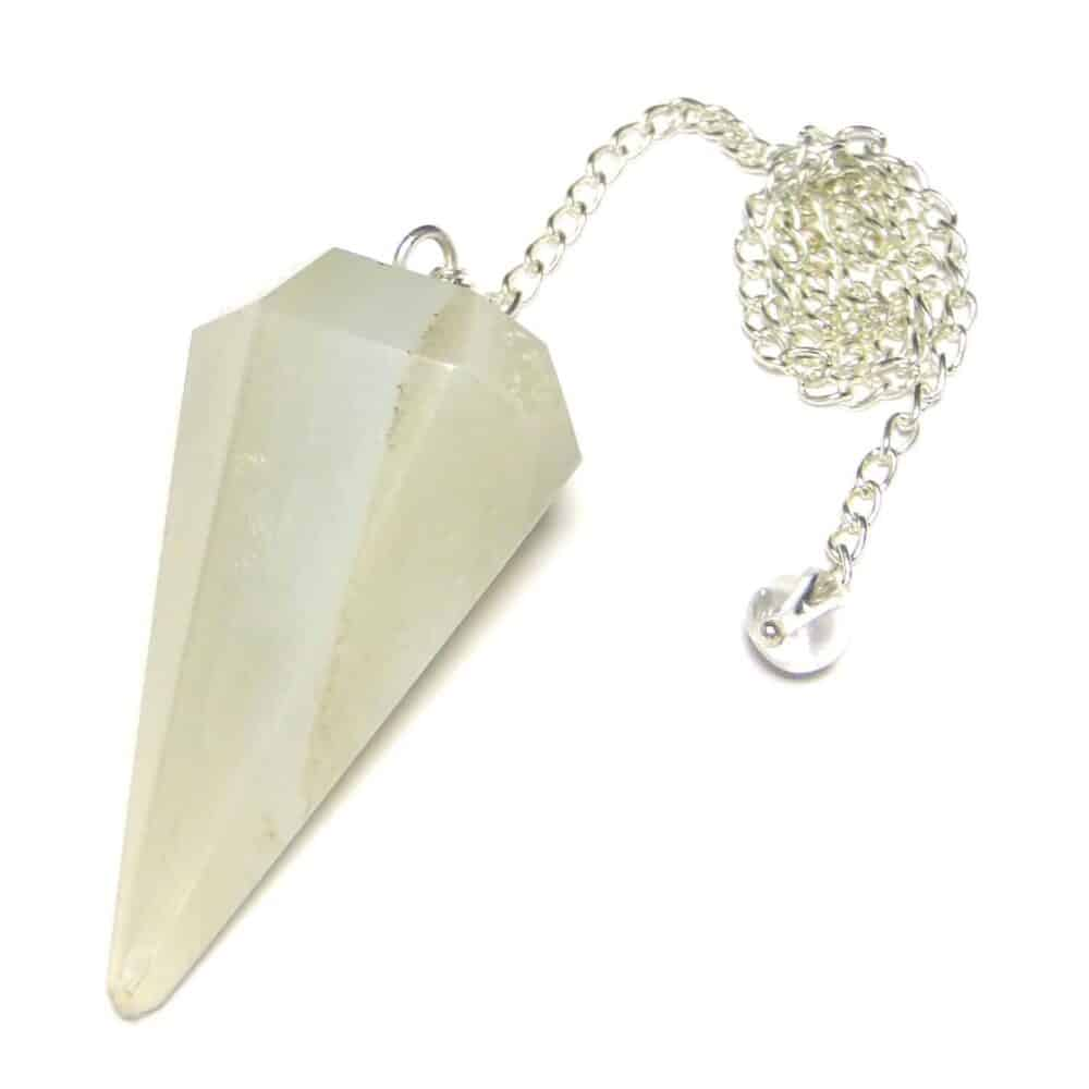 White Agate Faceted Dowsing Pendulum Nature's Crest PD029 ₹249.00