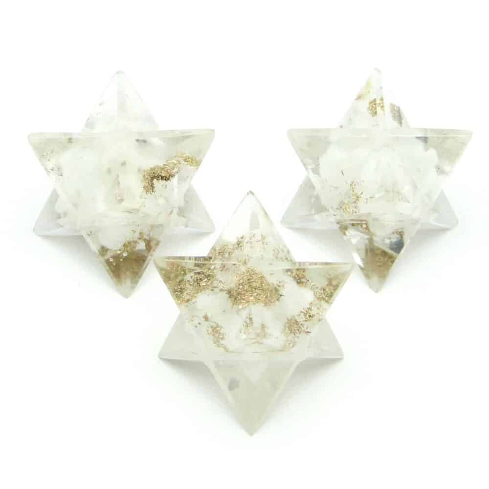 White Aventurine Orgone 8 Point Merkaba Star Nature's Crest OMS015 ₹ 249.00