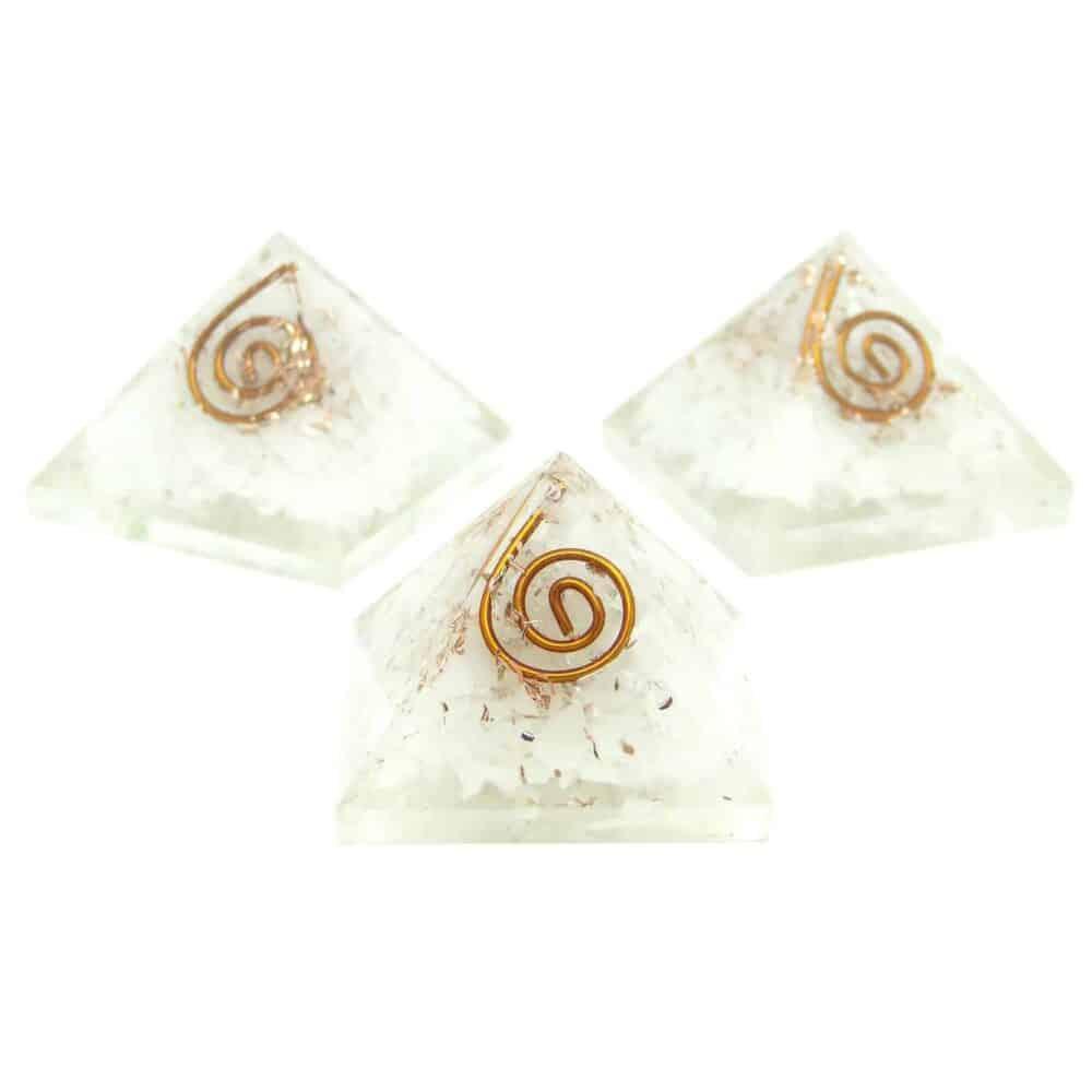 White Aventurine Orgone Pyramid Nature's Crest OPY015 ₹299.00