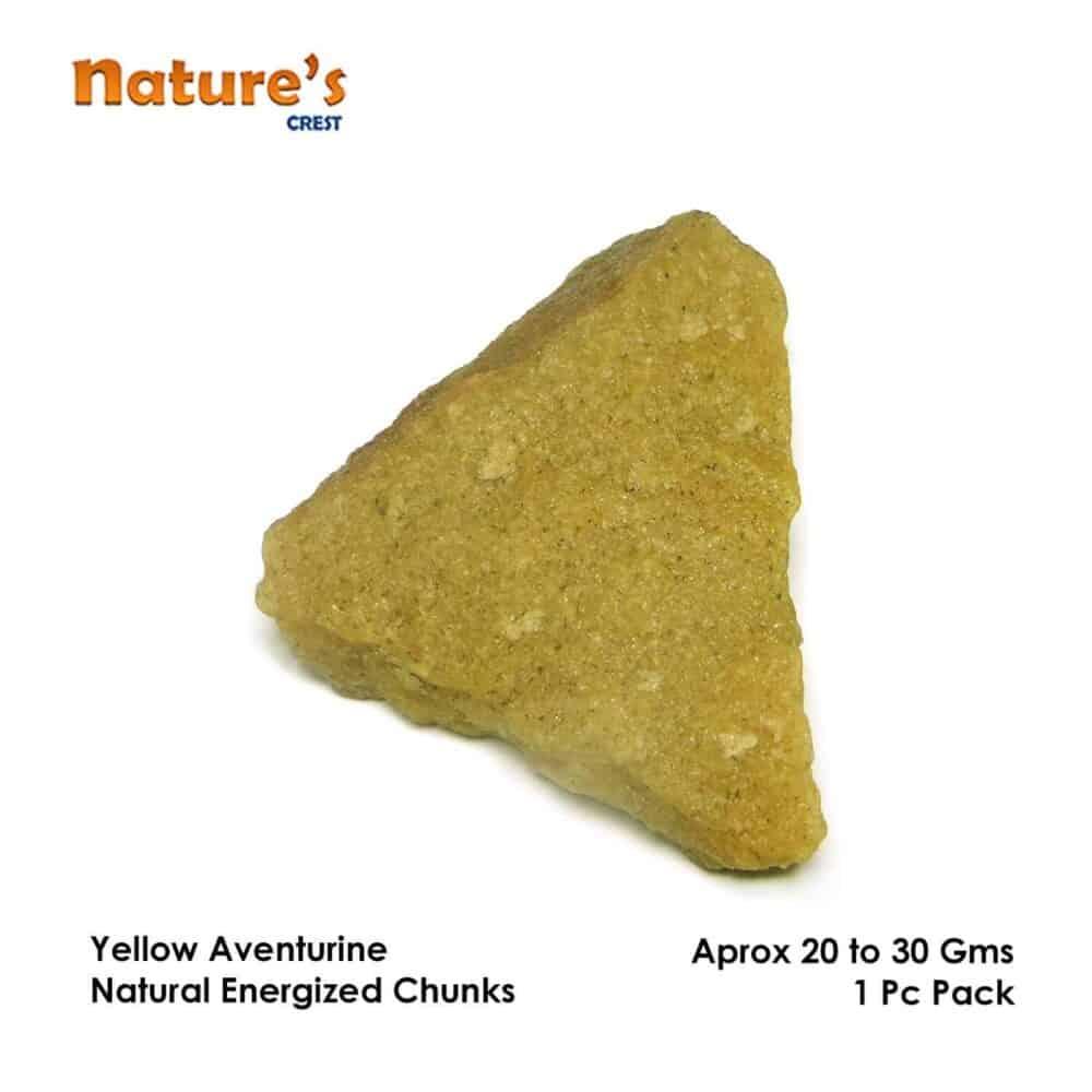 Yellow Aventurine Natural Raw Rough Chunks Nature's Crest RC024 ₹199.00