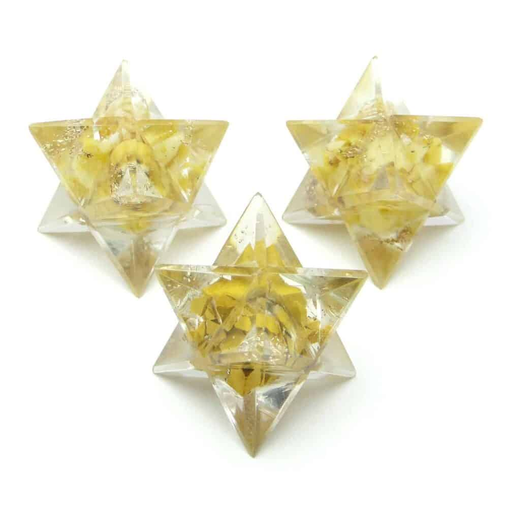 Yellow Aventurine Orgone 8 Point Merkaba Star Nature's Crest OMS016 ₹249.00