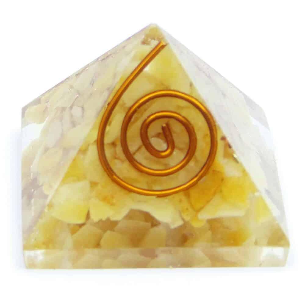 Yellow Aventurine Orgone Pyramid Nature's Crest OPY016 ₹299.00