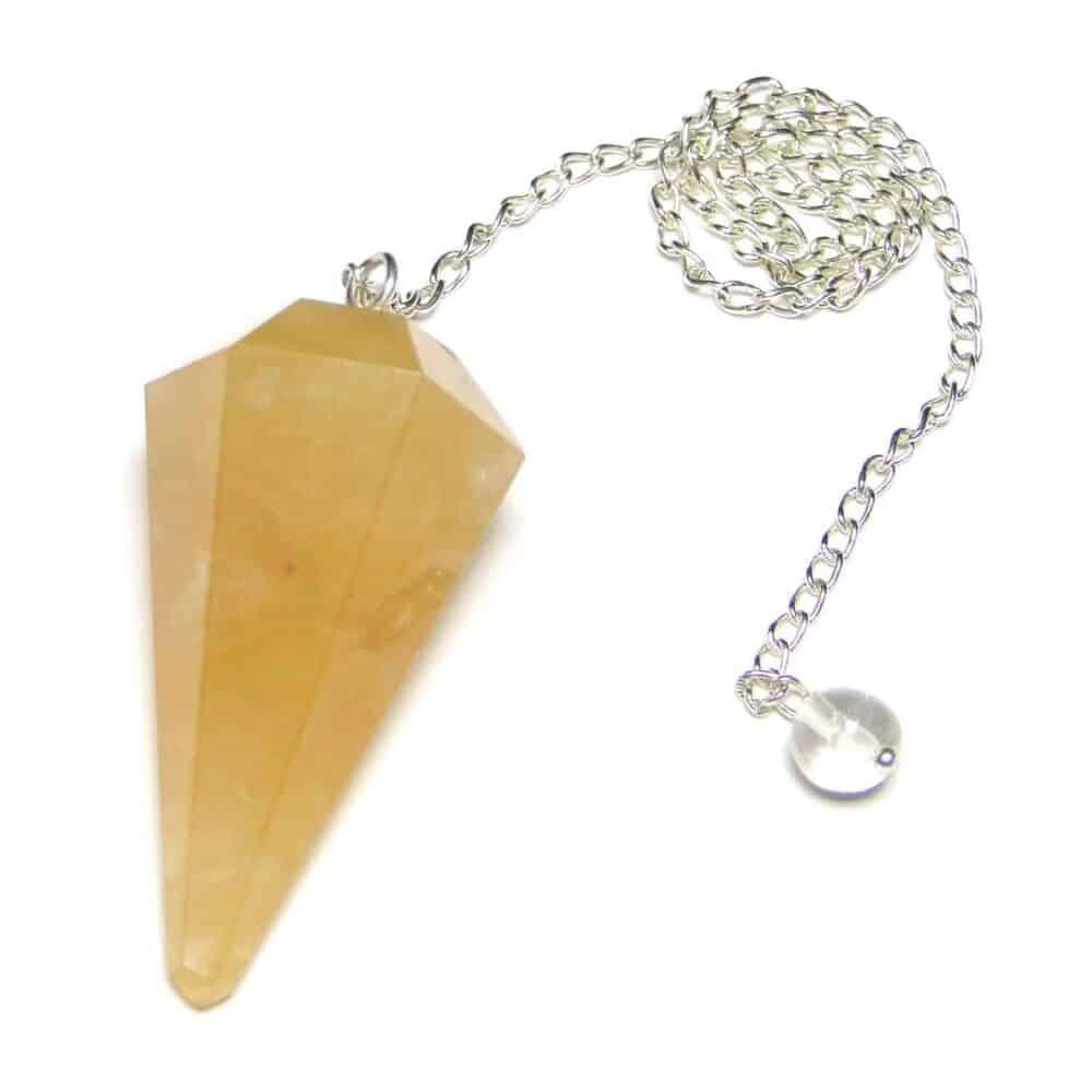 Yellow Aventurine Faceted Dowsing Pendulum Nature's Crest PD031 ₹249.00