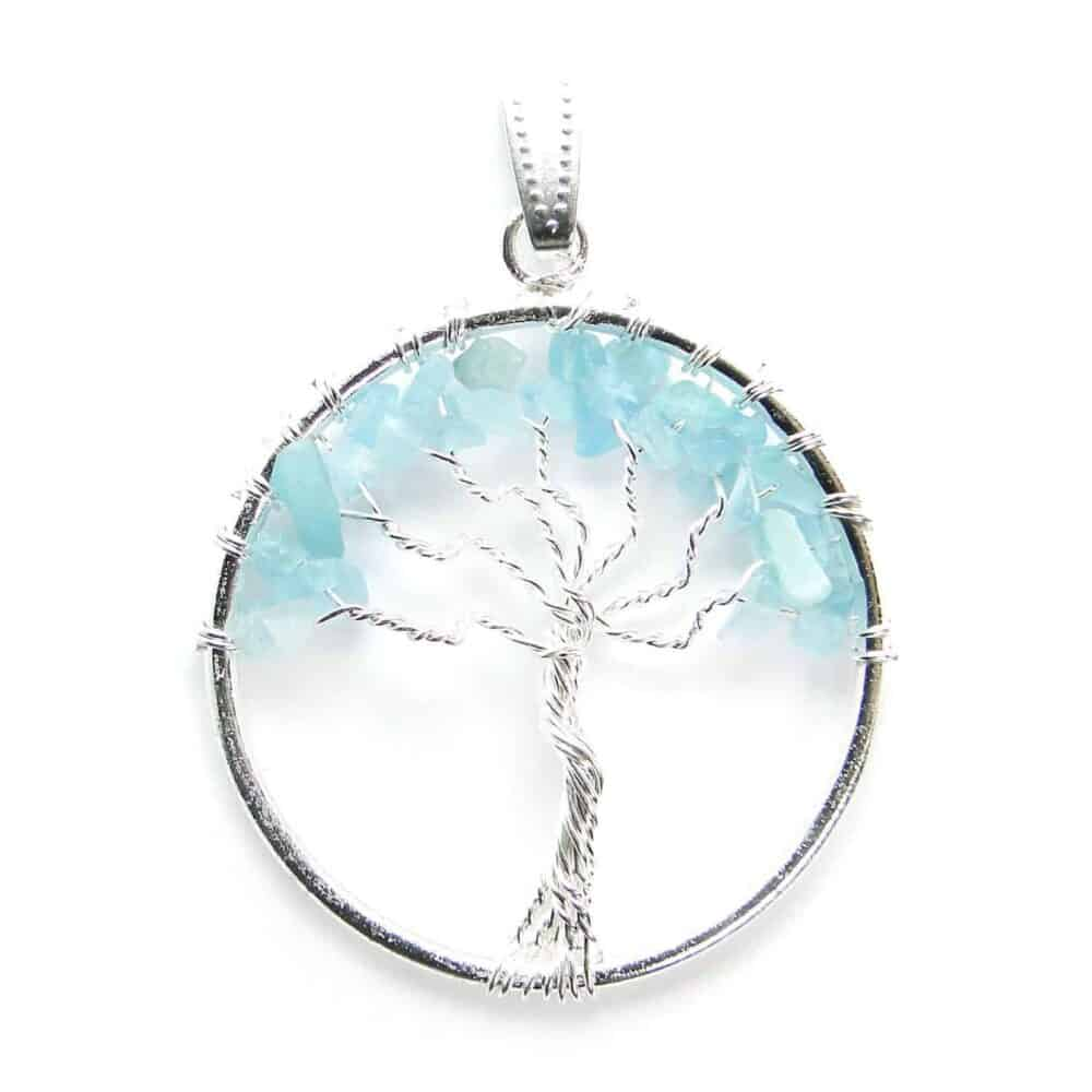 Aquamarine Tree of Life Pendant Nature's Crest TOL002 ₹ 249.00