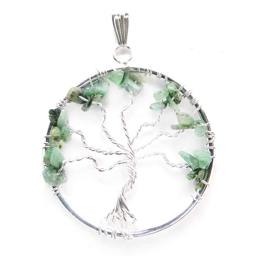 Emerald (Panna) Tree of Life Pendant Nature's Crest TOL006 ₹ 249.00
