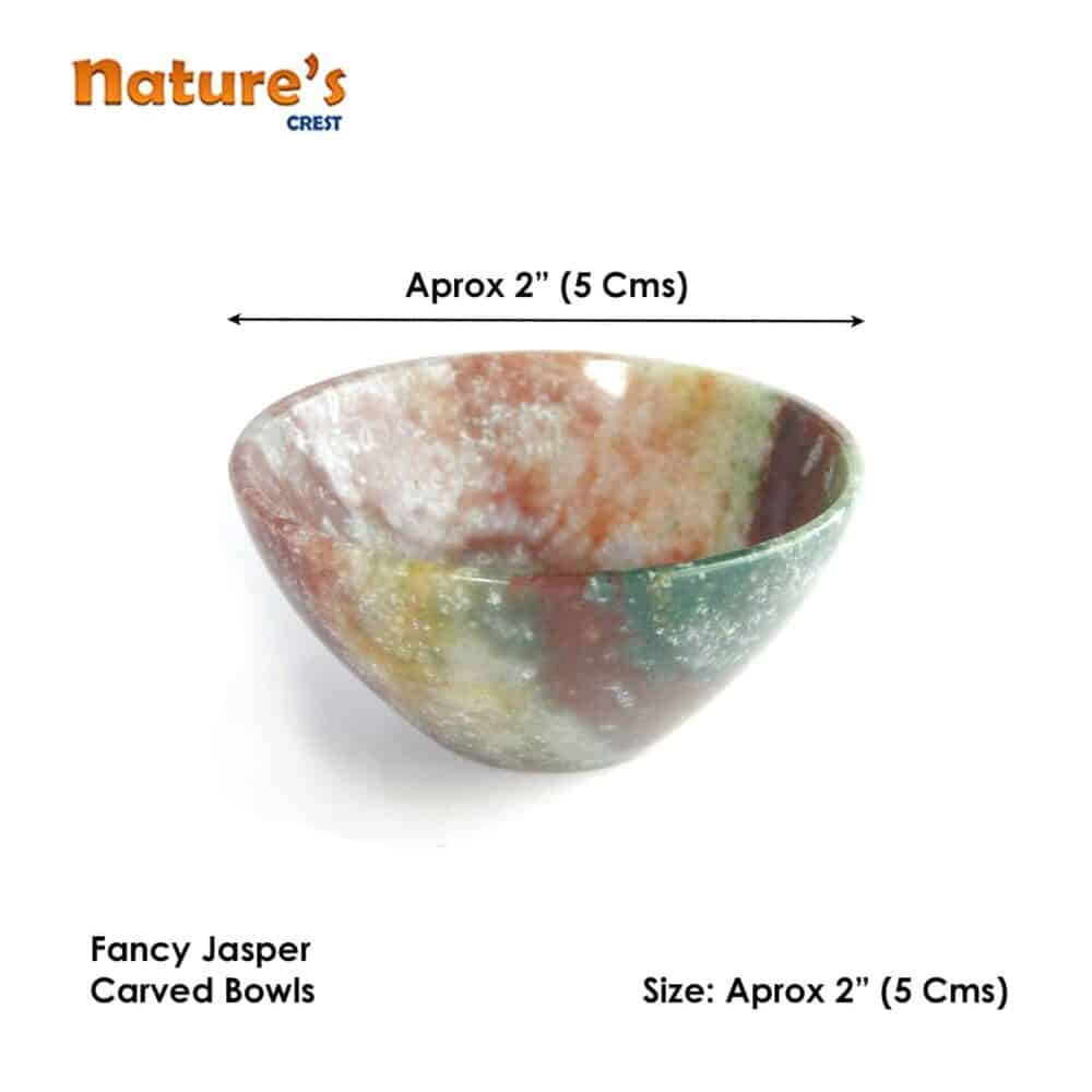 "Fancy Jasper Gemstone Bowl 2"" Nature's Crest BO002 ₹ 949.00"