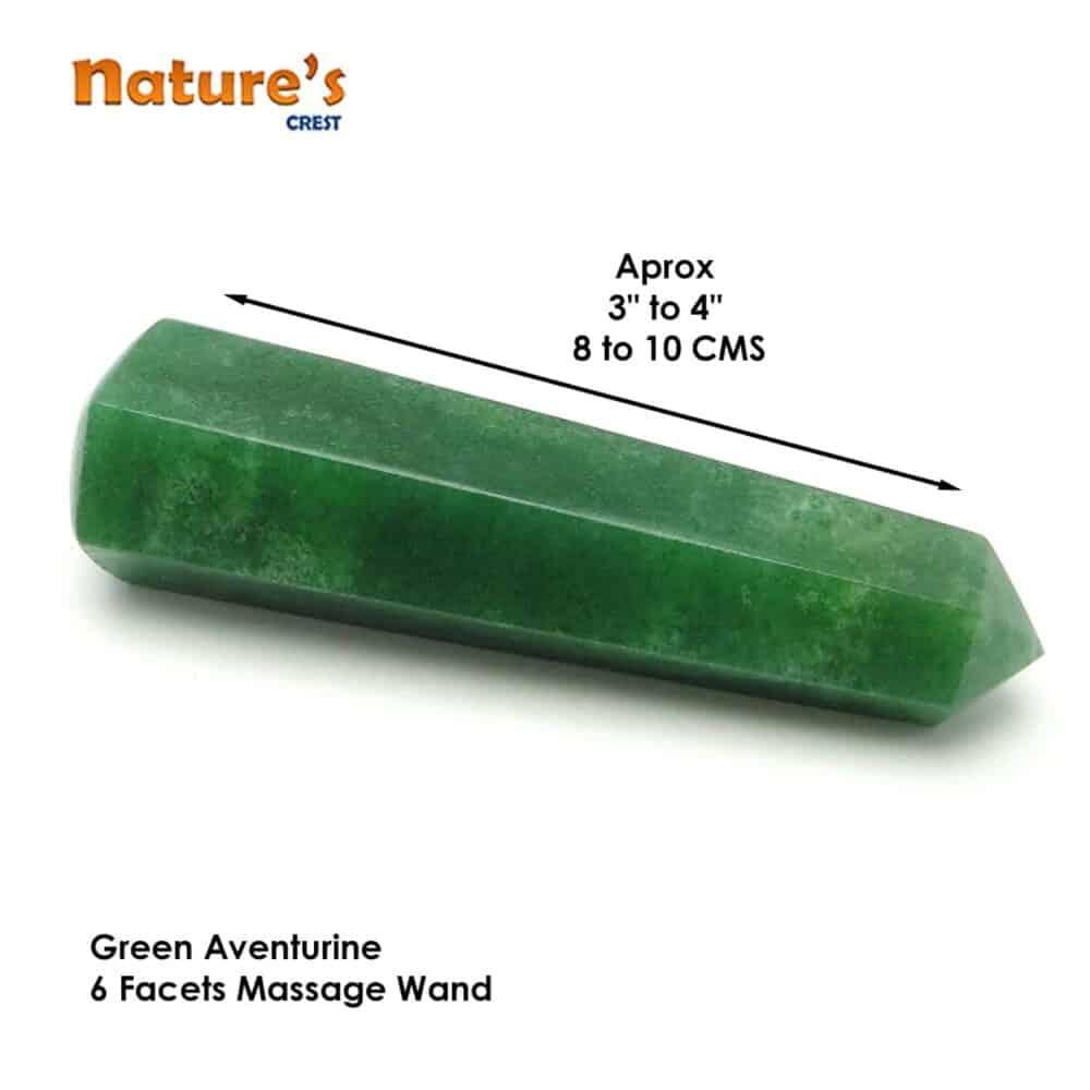 Green Aventurine Healing Wand Massage Stick Nature's Crest MS008 ₹499.00
