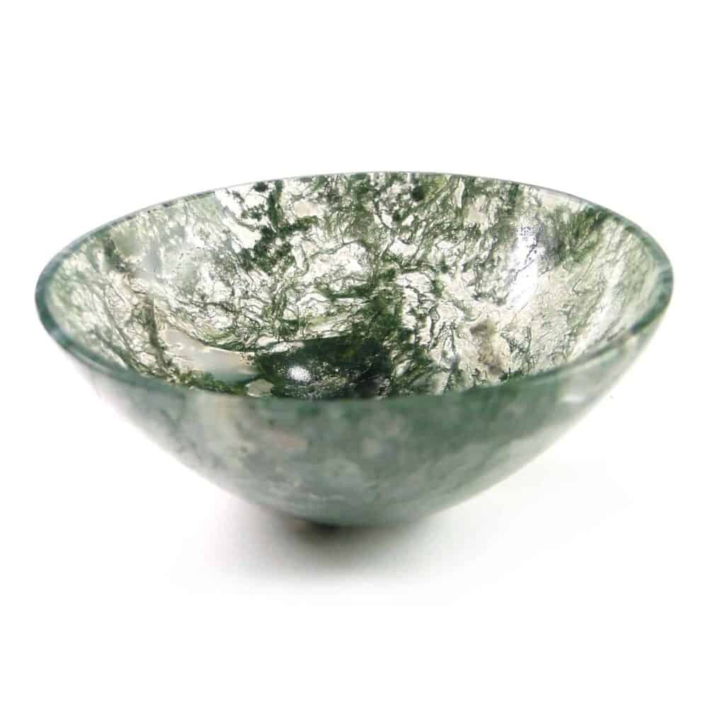 "Green Moss Agate Gemstone Bowl 3"" Nature's Crest BO005 ₹ 1,499.00"
