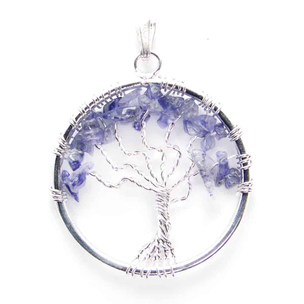 Iolite Tree of Life Pendant Nature's Crest TOL009 ₹ 249.00