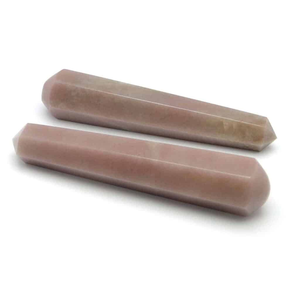 Pink Aventurine Healing Wand Massage Stick Nature's Crest MS012 ₹ 499.00