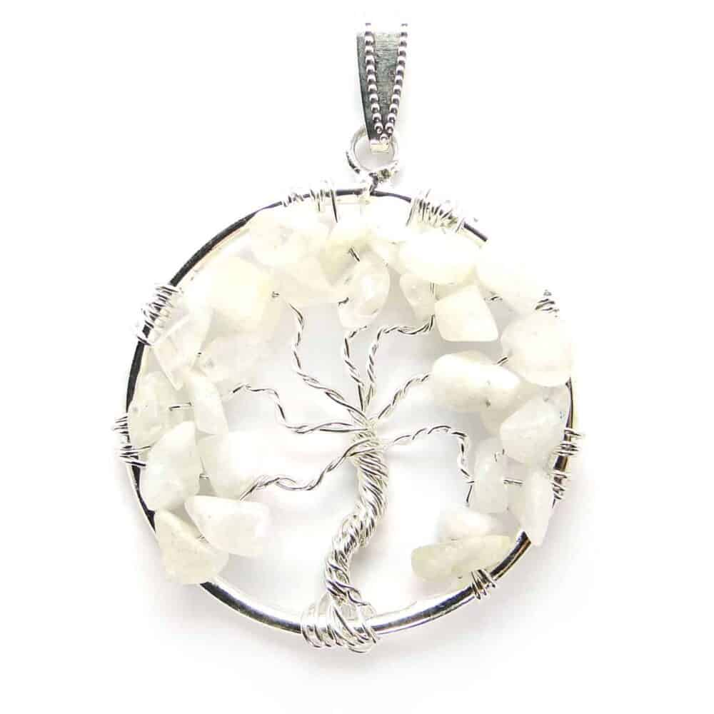 Rainbow Moonstone Tree of Life Pendant Nature's Crest TOL012 ₹ 249.00