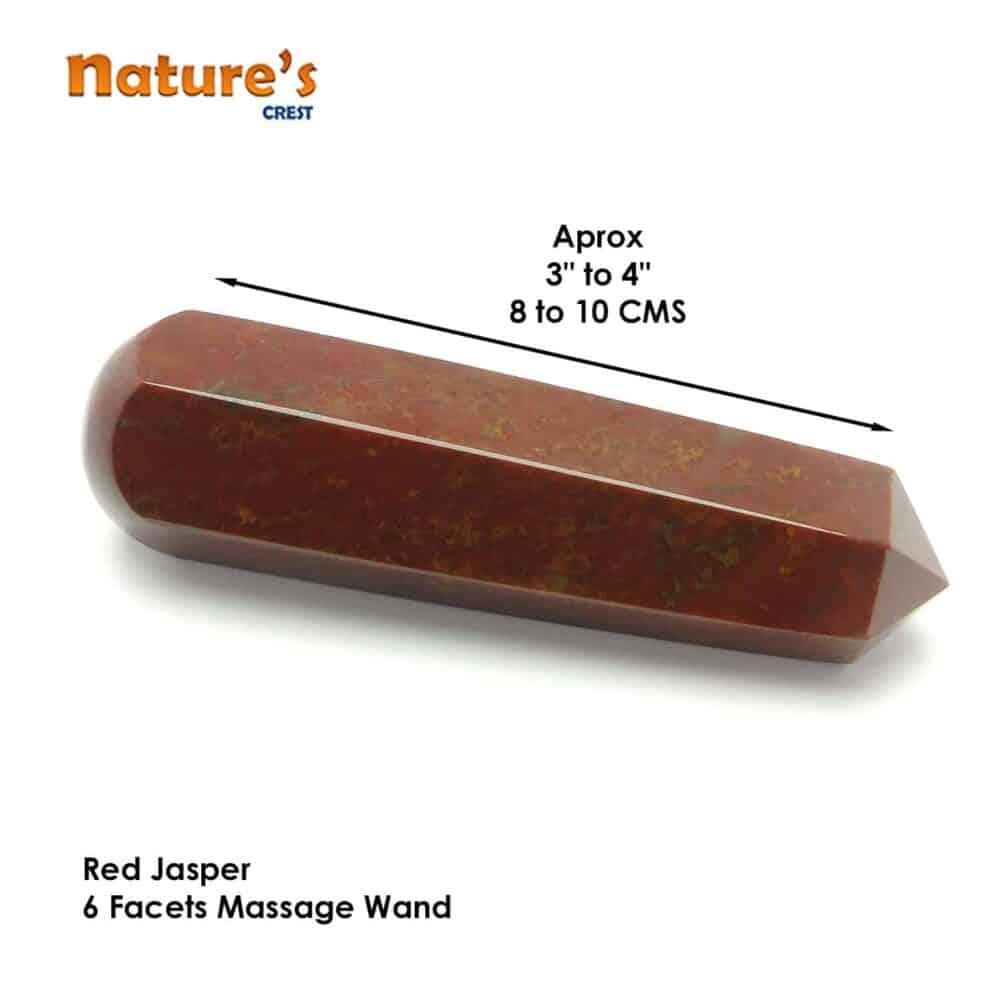 Red Jasper Healing Wand Massage Stick Nature's Crest MS013 ₹499.00