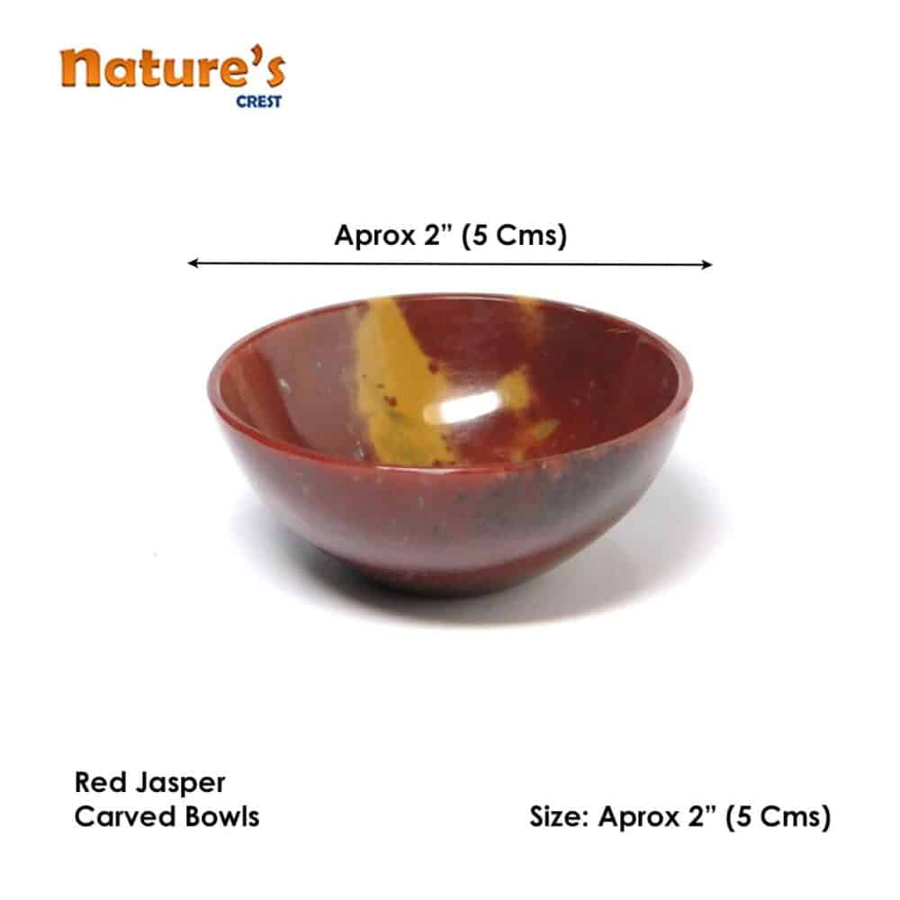 "Red Jasper Gemstone Bowl 2"" Nature's Crest BO004 ₹ 949.00"