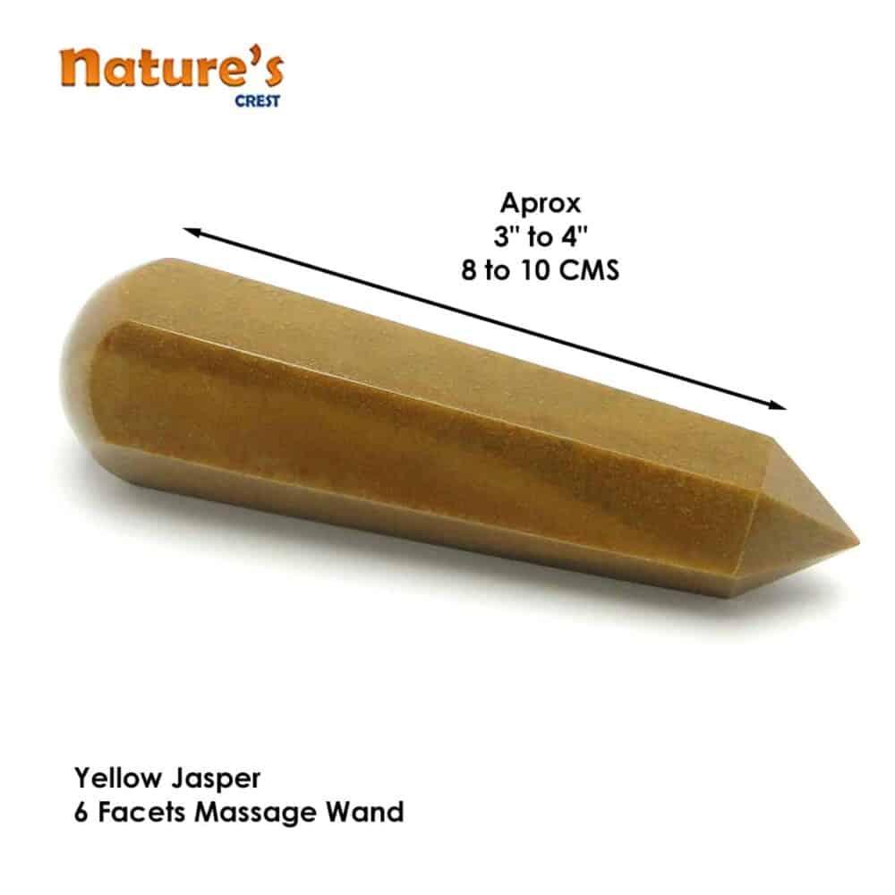 Yellow Jasper Healing Wand Massage Stick Nature's Crest MS018 ₹749.00