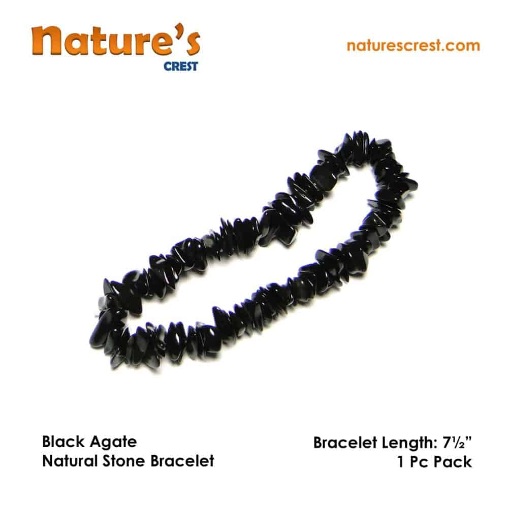 Black Agate Chip Beads Nature's Crest TC006 ₹ 249.00