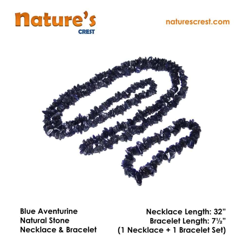 Blue Aventurine Chip Beads Nature's Crest TC008 ₹299.00