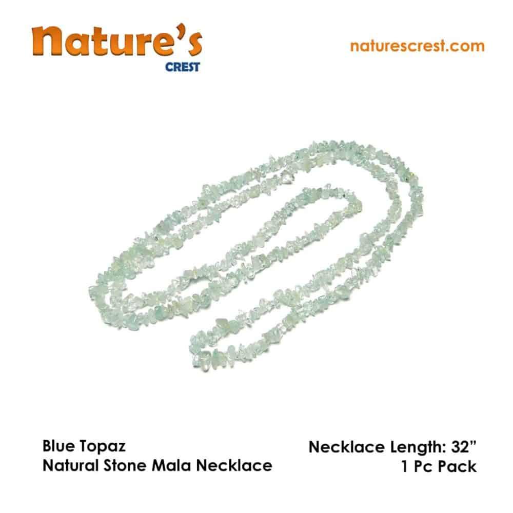 Blue Topaz Chip Beads Nature's Crest TC009 ₹249.00