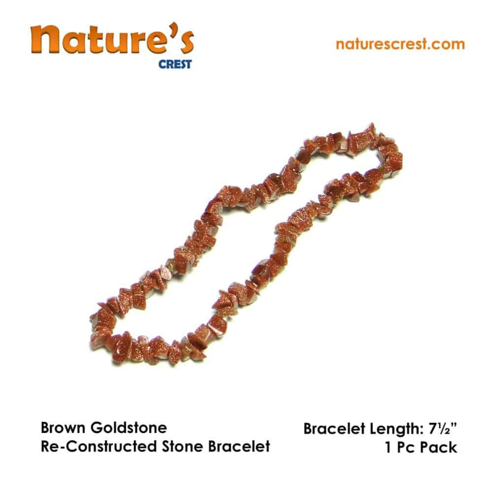 Brown Goldstone Re-Constructed Stone Chip Beads Nature's Crest TC010 ₹249.00
