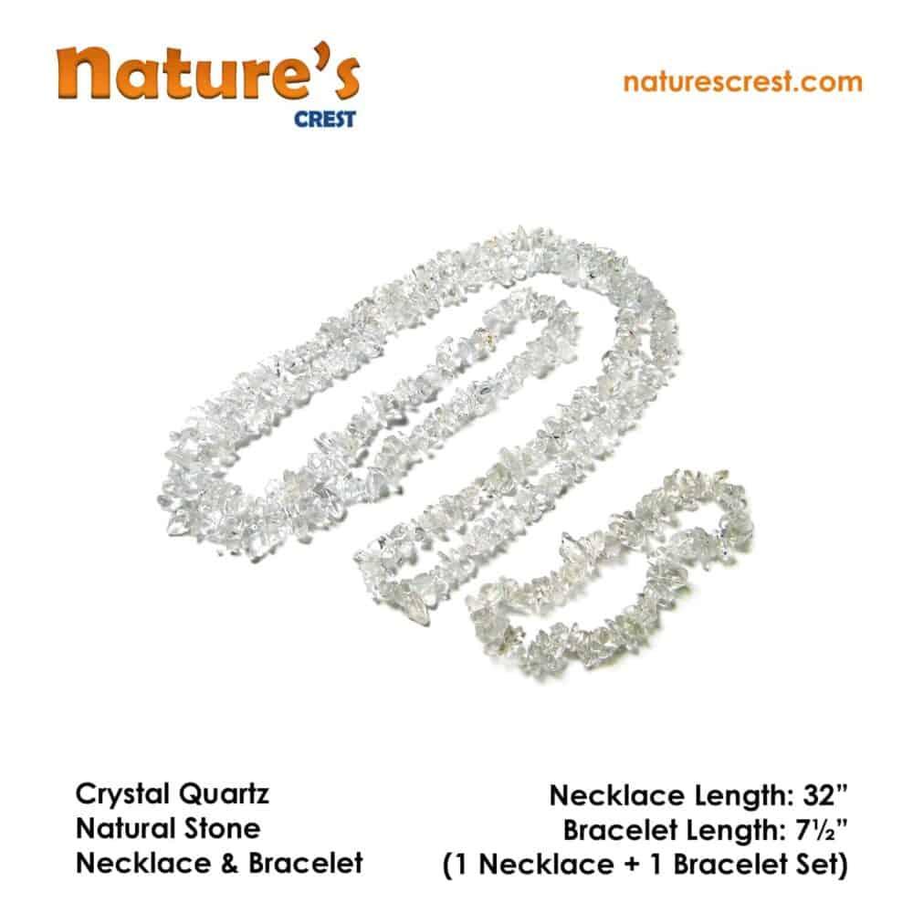 Crystal Quartz Chip Beads Nature's Crest TC013 ₹249.00