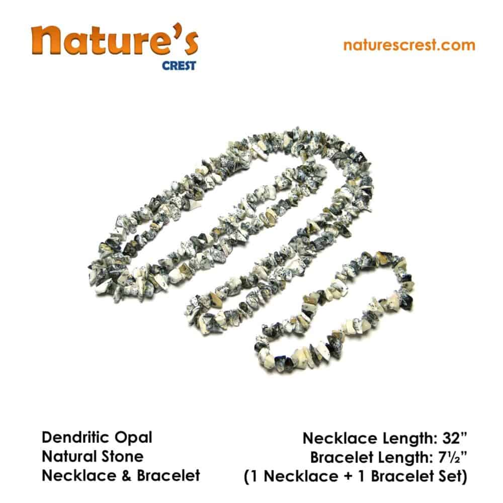 Dendritic Opal Chip Beads Nature's Crest TC015 ₹499.00