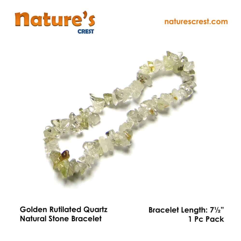 Golden Rutilated Quartz Chip Beads Nature's Crest TC017 ₹299.00