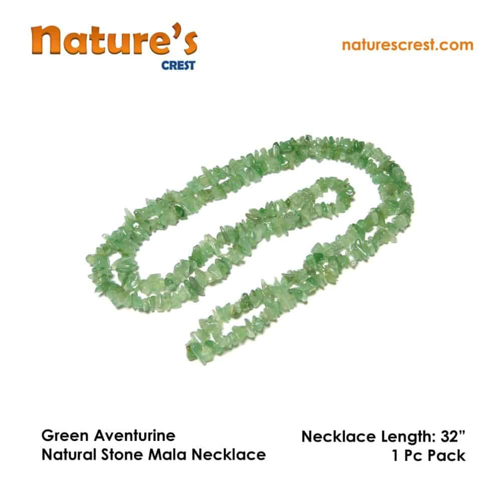 Green Aventurine Chip Beads Nature's Crest TC018 ₹249.00