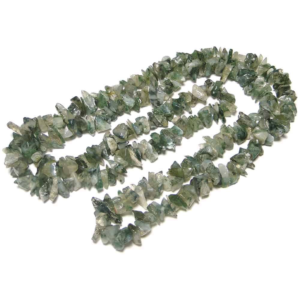Green Moss Agate Chip Beads Nature's Crest TC021 ₹299.00