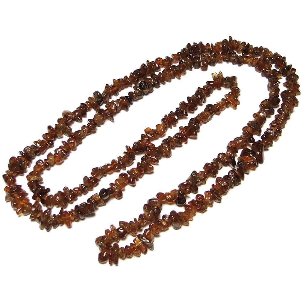 Hessonite Garnet Chip Beads Nature's Crest TC025 ₹299.00