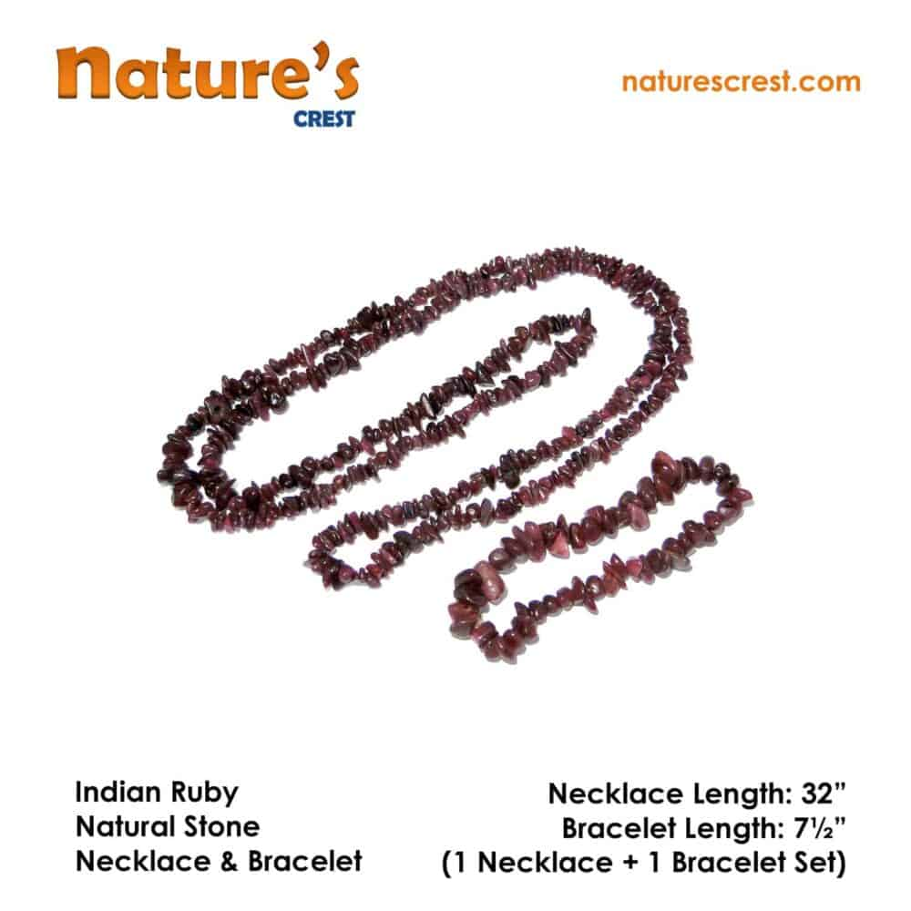 Indian Ruby Chip Beads Nature's Crest TC027 ₹ 1,249.00