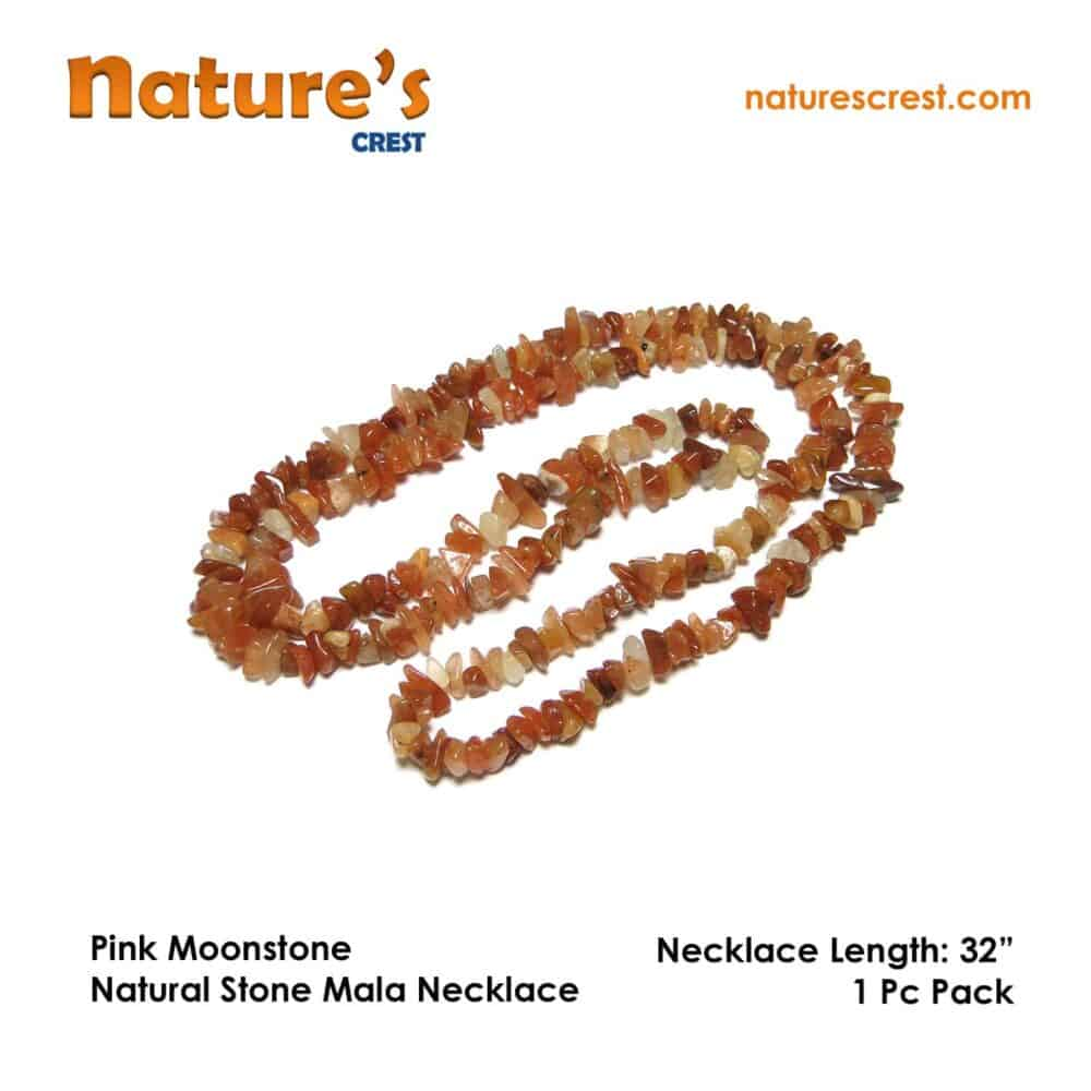 Pink Moonstone Chip Beads Nature's Crest TC036 ₹249.00