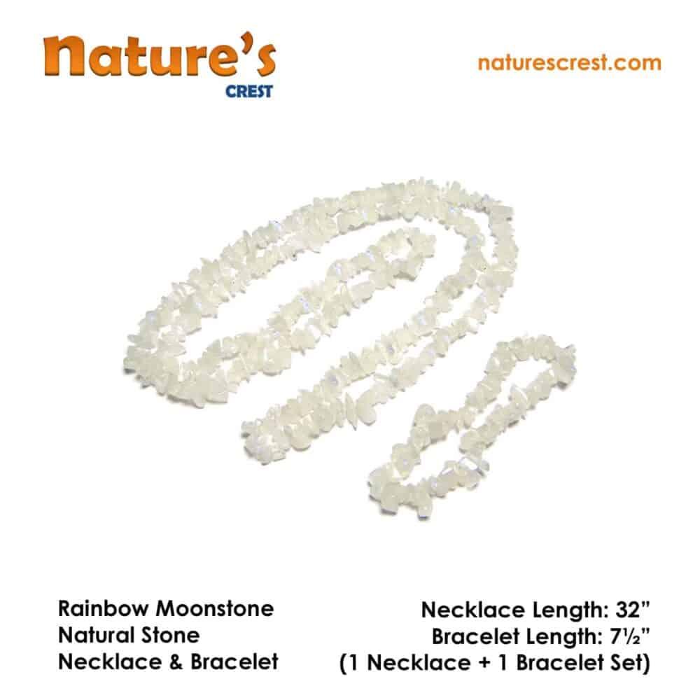 Rainbow Moonstone Chip Beads Nature's Crest TC039 ₹249.00